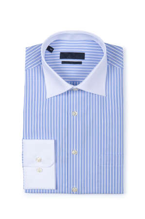 Nice male shirt isolated on the white Stock Photo - 18609381