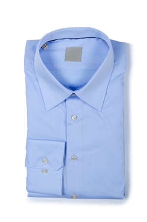 Nice male shirt isolated on the white Stock Photo - 18609096