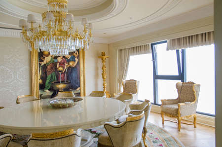 BAKU, AZERBAIJAN - JUNE 11: Ambassador suite of Jumeirah Bilgah Beach Hotel on June 11, 2012 in Baku, Azerbaijan. Jumeirah Bilgah Beach Hotel is first Jumeirah hotel in Azerbaijan Stock Photo - 18612958