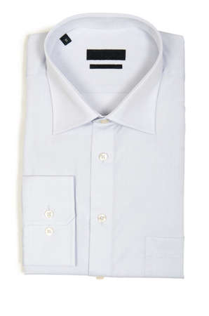 Nice male shirt isolated on the white Stock Photo - 18608877