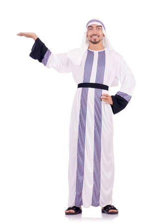 Arab man isolated on the white Stock Photo - 18650892
