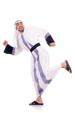 Arab man isolated on the white Stock Photo - 18650823
