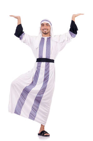 Arab man isolated on the white Stock Photo - 18650855