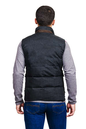 Male coat isolated on the white Stock Photo - 18609468
