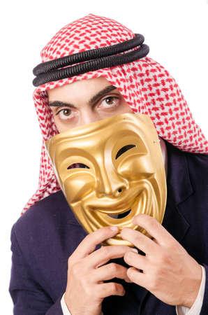 Arab businessman isolated on white Stock Photo - 18651049