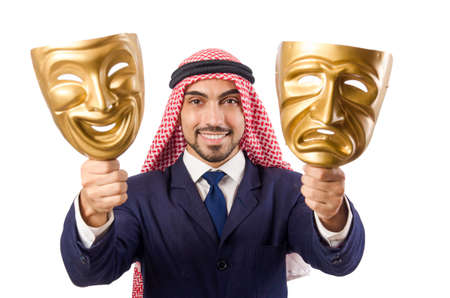 Arab man hypocrisy concept Stock Photo - 18650969
