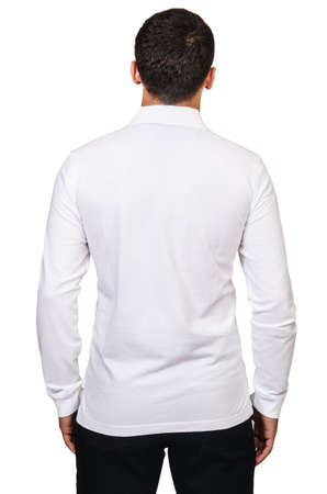 Male model with shirt isolated on white Stock Photo - 18608531
