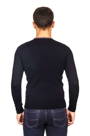 Male sweater isolated on the white Stock Photo - 18608931