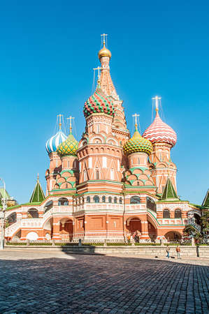 Famous st Vasily Blessed cathedral in Moscow Stock Photo - 18609766
