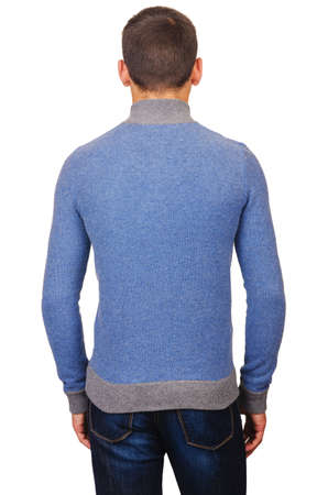 Male sweater isolated on the white Stock Photo - 18609603