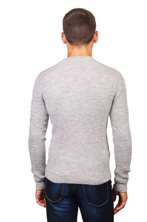 Male sweater isolated on the white Stock Photo - 18608981
