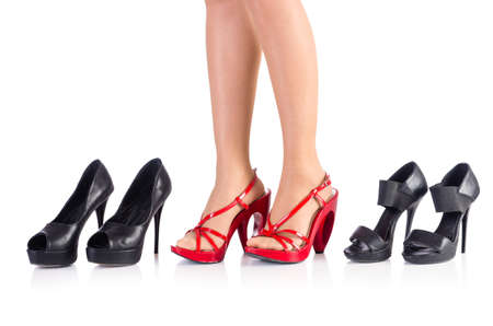 Woman trying new shoes in the shop Stock Photo - 18607674