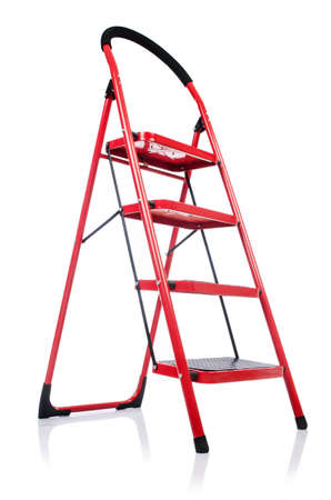Ladder isolated on the white background photo