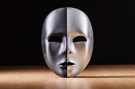 Mask against the dark background Stock Photo - 18609605