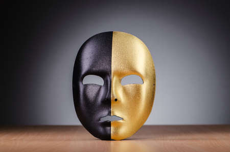 Mask against the dark background Stock Photo - 18609601