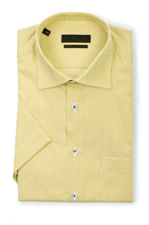 Nice male shirt isolated on the white Stock Photo - 18609851