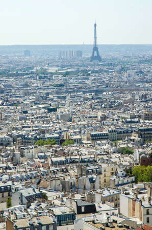 Skyline of Paris on bright summer day Stock Photo - 18609779