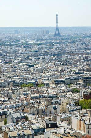 Skyline of Paris on bright summer day Stock Photo - 18609779
