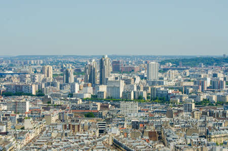 Skyline of Paris on bright summer day Stock Photo - 18609776