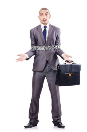 Arrested businessman in studio shooting Stock Photo - 18611306