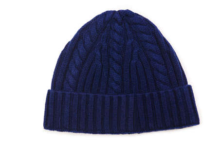 stocking cap: Beanie hat isolated on the white background
