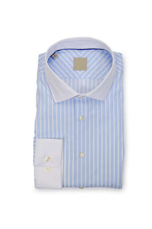 Nice male shirt isolated on the white Stock Photo - 18614879
