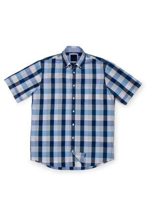 Nice male shirt isolated on the white Stock Photo - 18611194