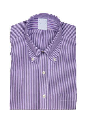 Nice male shirt isolated on the white Stock Photo - 18615794