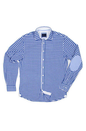 Nice male shirt isolated on the white Stock Photo - 18614917