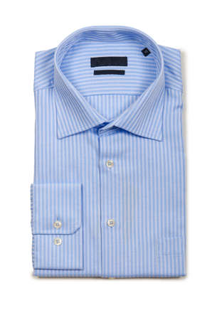 Nice male shirt isolated on the white Stock Photo - 18615070