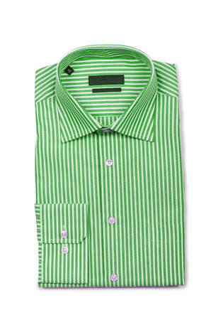 Nice male shirt isolated on the white Stock Photo - 18615807