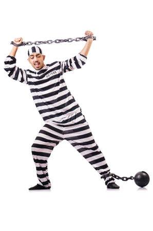 Convict criminal in striped uniform Stock Photo - 18679450