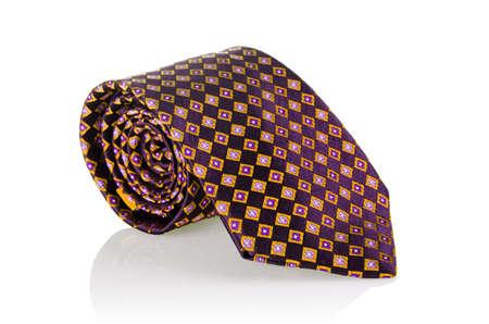 tie necktie: Elegant silk male tie ( necktie ) on white