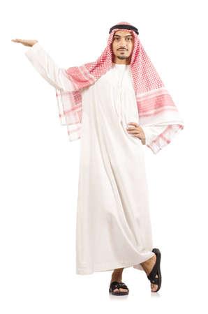Arab businessman isolated on white photo