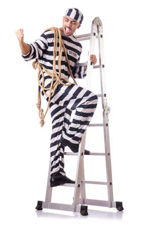 Convict criminal in striped uniform Stock Photo - 18679868