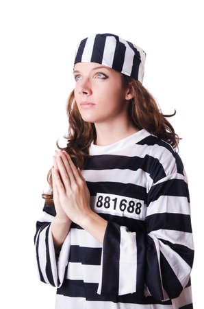 Convict criminal in striped uniform Stock Photo - 18680104