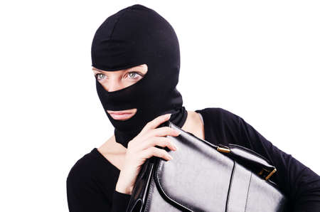 Industrial espionage concept with person in balaclava Stock Photo - 18680107