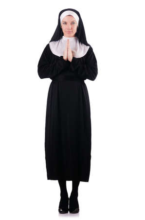 Young nun in religious concept photo