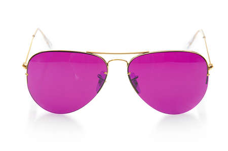 Elegant sunglasses isolated on the white Stock Photo - 18611132