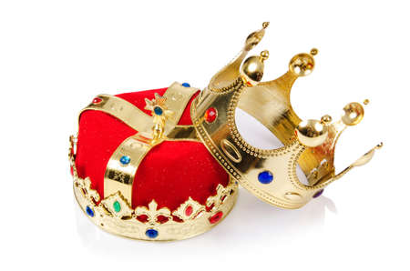 king crown: King crown isolated on white