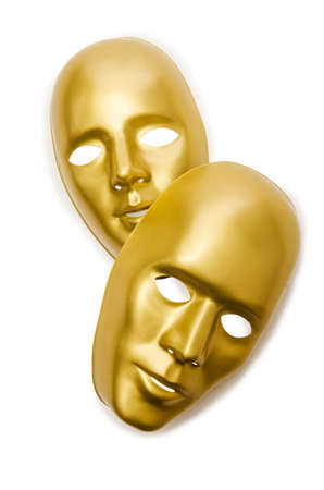 Shiny masks isolated on white background Stock Photo - 18611317