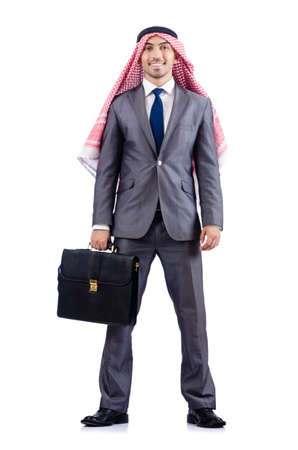 Arab businessman isolated on the white Stock Photo - 18679860