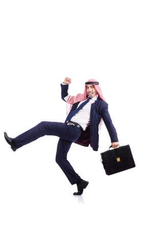 Arab businessman isolated on white Stock Photo - 18679253