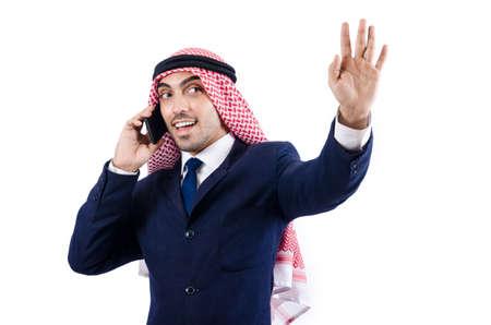 Arab businessman isolated on white Stock Photo - 18680085