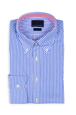 Nice male shirt isolated on the white Stock Photo - 18744553