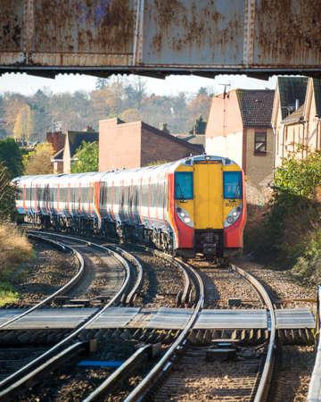 Rail tracks in bright summer day Stock Photo - 18749726