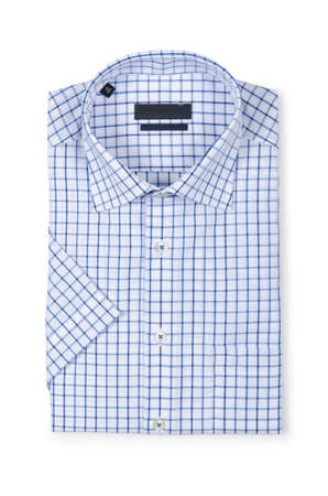 Nice male shirt isolated on the white Stock Photo - 18744806
