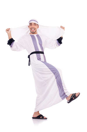 Arab man isolated on the white Stock Photo - 18802511