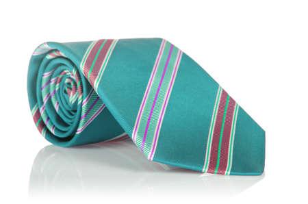 Elegant silk male tie ( necktie ) on white Stock Photo - 18744888