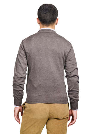 Male sweater isolated on the white Stock Photo - 18744958